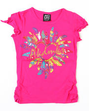 7-16 Big Girls - Feather Love Tee (7-16)