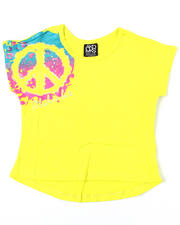 Girls - Peace Splatter Tee (7-16)