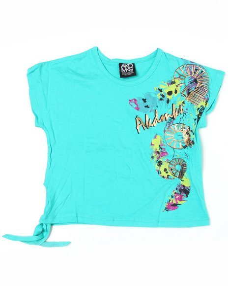 - Feather Mess Side Tie Tee (7-16)