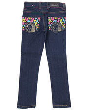 4-6X Little Girls - Leopard Pocket Jean (4-6X)