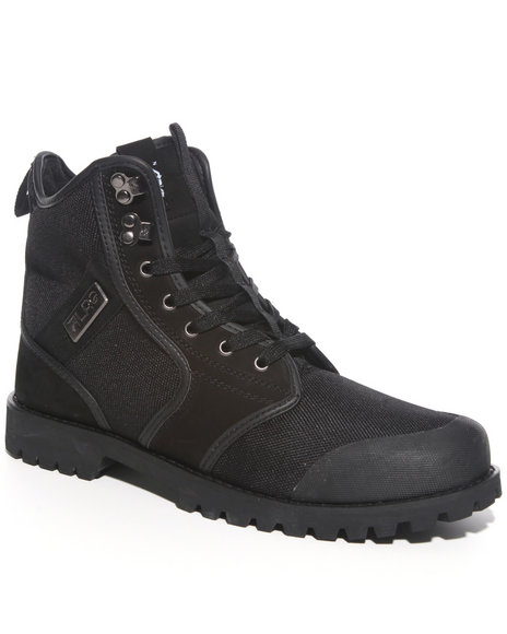 LRG Men Black Sycamore Nubuck/Canvas Boot Hi
