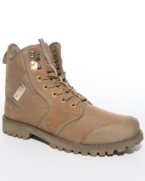 LRG Men Khaki Sycamore Nubuck/Canvas Boot Hi