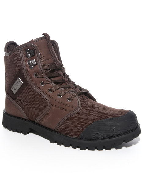 LRG Men Brown Sycamore Nubuck/Canvas Boot Hi