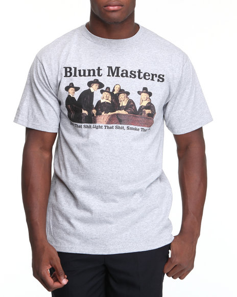 Community 54 Presents - Men Grey Community 54 Blunt Rollers S/S Tee - $11.99