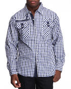 Men - Gingham Check Woven Shirt