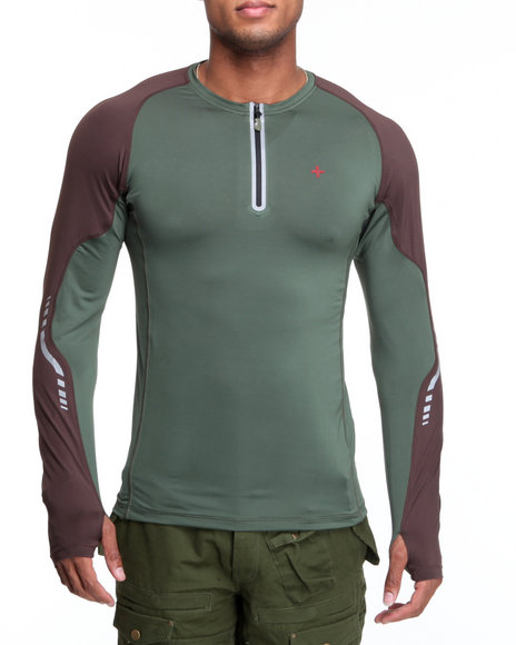 Psyberia Green Bravara L / S Performance Top