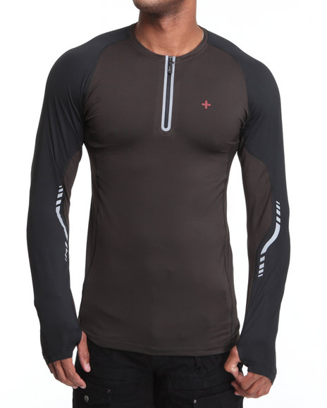 Psyberia Black Bravara L / S Performance Top