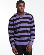 Sweaters - Fredrick Striped V-Neck Sweater
