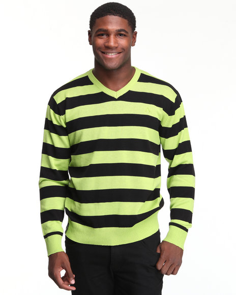 - Fredrick Striped V-Neck Sweater