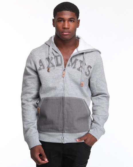 - Heavyweight Fleece Full Zip w/ Denim Detail