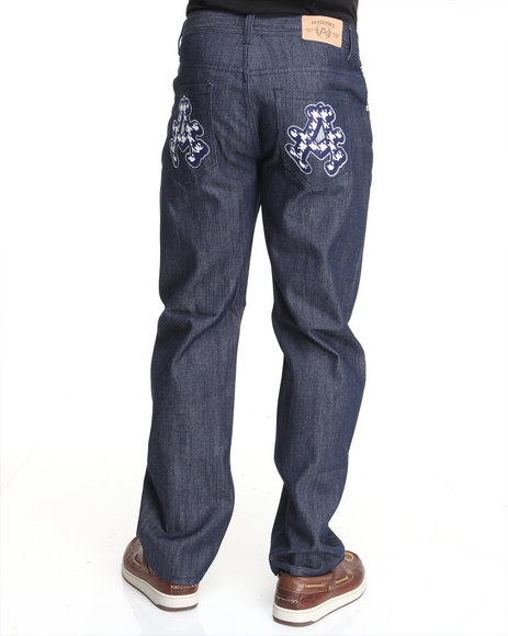 - Double A Raw Denim w/ Applique
