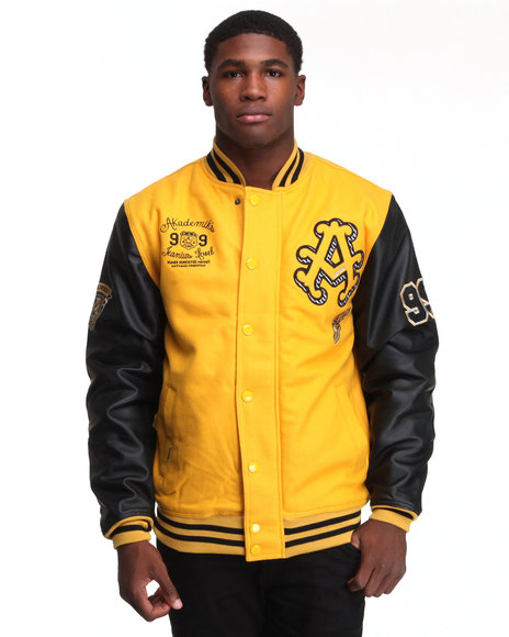 - Thompson Wool Blend Varsity Jacket