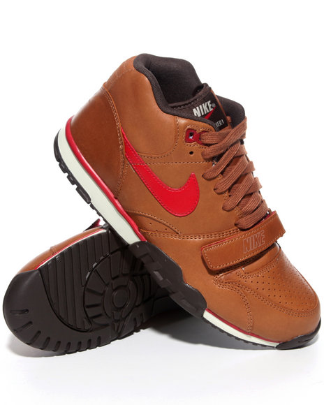 Nike Men Tan Air Trainer 1 Mid Sneakers