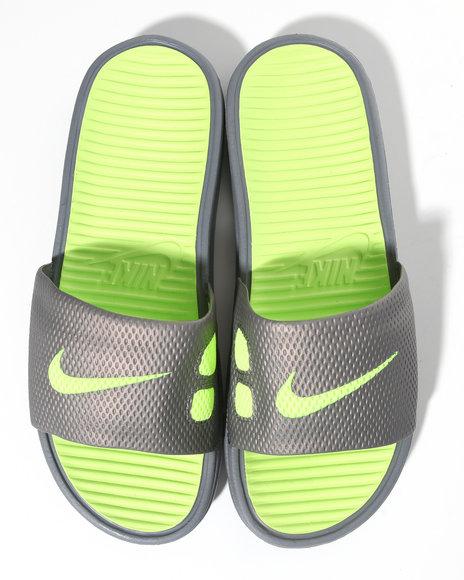 Nike Men Grey Benassi Solarsoft Slide Sandals