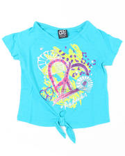 7-16 Big Girls - Pheart Tie Front Tee (7-16)