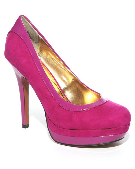 Baby Phat Women Pink Chance Sueded Pumps