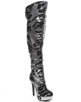 Dereon - Wild Knee High Sequin Platform Boot