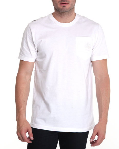 Enyce Men White Required Alpha Crew Shirt