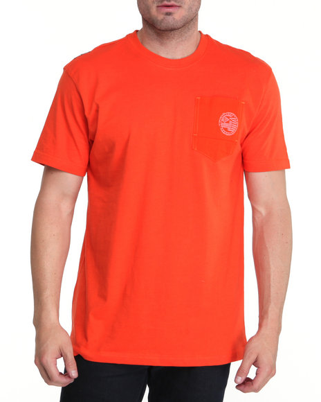 Enyce Men Orange Required Alpha Crew Shirt