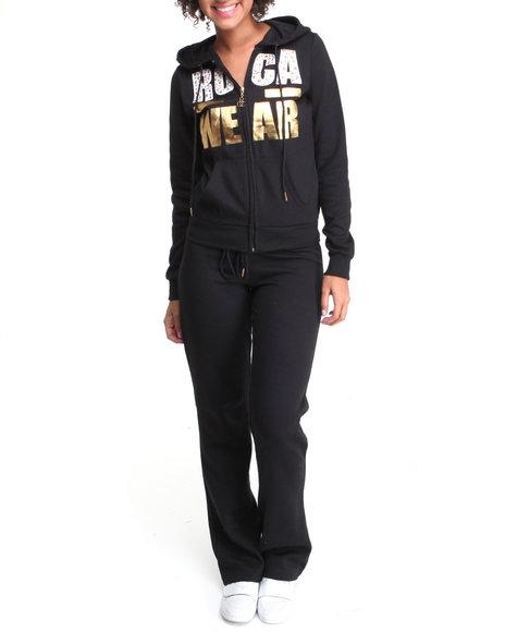 Rocawear Women Black Black Anthem Fleece Set