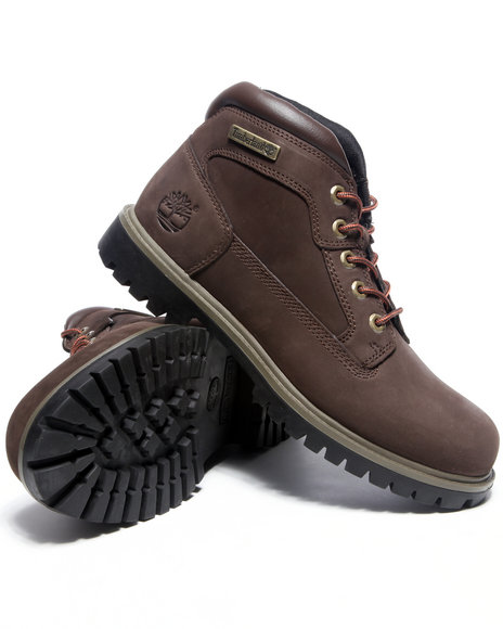 Timberland Men Brown Camp Leather Boots