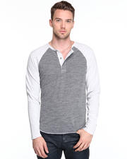 DJP OUTLET - Mixed Raglan Henley