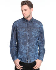 True Religion - Indigo Long Sleeve Workwear Shirt