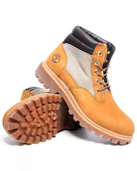 Timberland Men Wheat Timberland Wheat Nubuck Plain Toe Boots