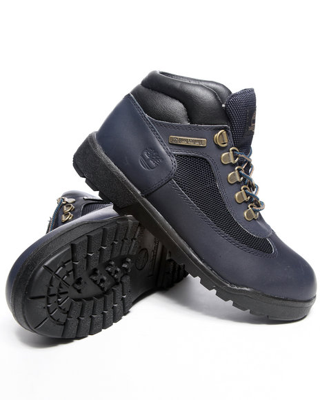 Timberland Boys Navy Field Boots (3.5-7)