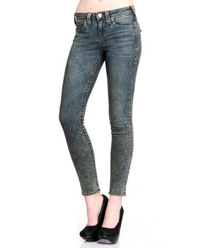 DJP Boutique - Halle Zip Acid Wash Skinny Jean