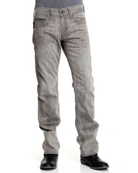True Religion - Bobby Straight Fit Grey Zipper Pant