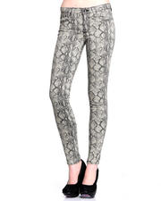 DJP OUTLET - Alex Mid Rise Skinny Stretch Exotic Print Jean