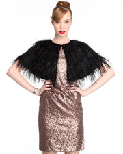 DJP OUTLET - Faux Ostrich Feathers Caplet