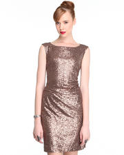 Dresses - Fitted Sequin Party Dress