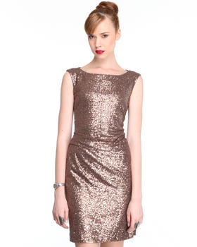 DJP OUTLET - Fitted Sequin Party Dress