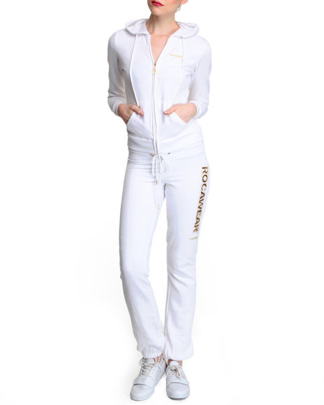 Rocawear Women White Sexy Since Terry Set