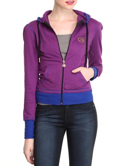Ecko Red Women Purple Long Sleeve Active Hoodie