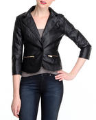 Women - Angel Squad Vegan leather blazer w/zipper