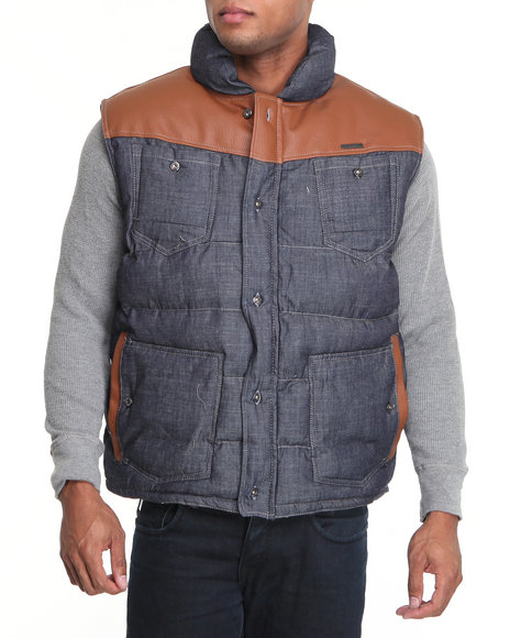 Parish Men Indigo Pinecone Vest