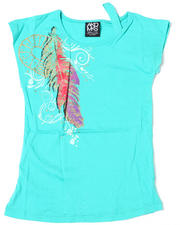 Girls - Feather Majestic Tee (7-16)