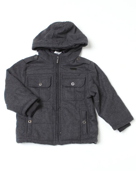 Mecca Boys Grey Zero Point Hoodie Jacket (2T-4T)