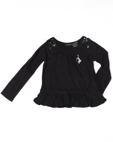 Baby Phat Girls Black Ruffle Tunic (4-6X)