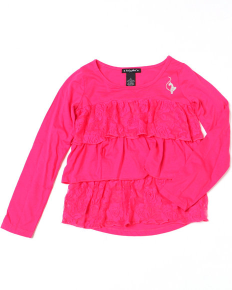 Baby Phat Girls Pink Tiered Ruffle Top (7-16)