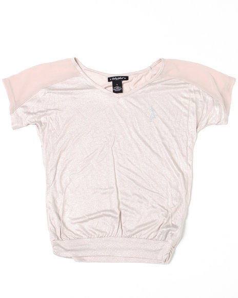 Baby Phat Girls Silver Shimmer Foil Top (7-16)