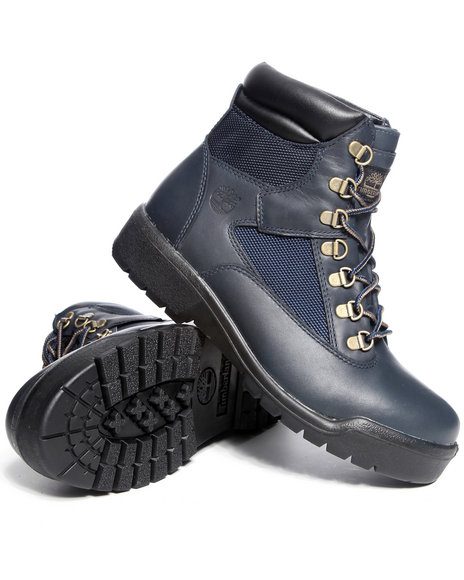 Timberland Men Navy Timberland 6 Inch Field Boots