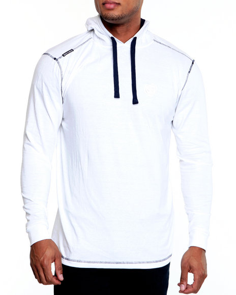 Enyce Men White Solid Jersey Pullover Shirt
