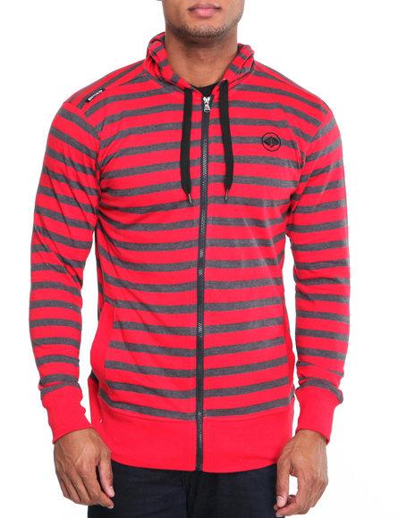 Enyce Men Red Stripe Jersey Hoodie