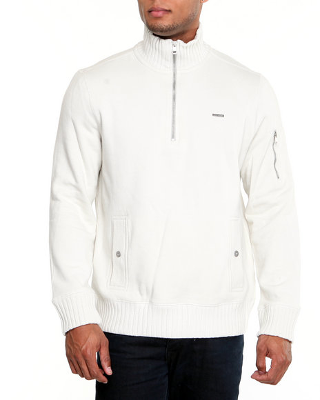 Calvin Klein Men White L/S Knit Pullover