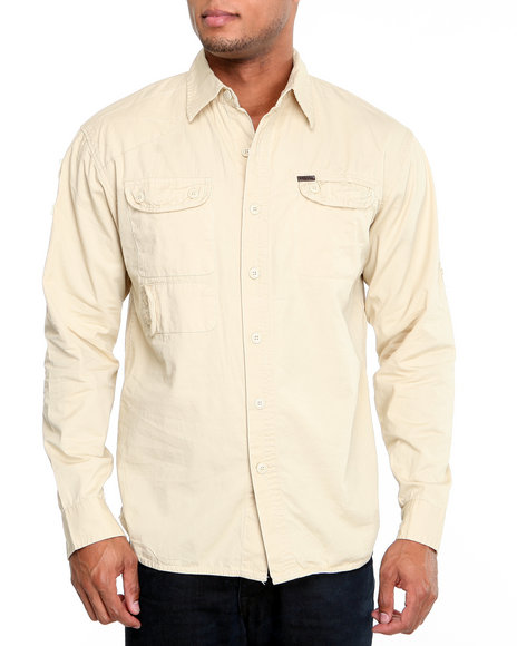 Parish Men Cream Ascender Button-Down