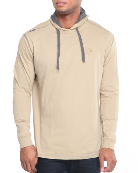 Enyce Men Khaki Solid Jersey Pullover Shirt